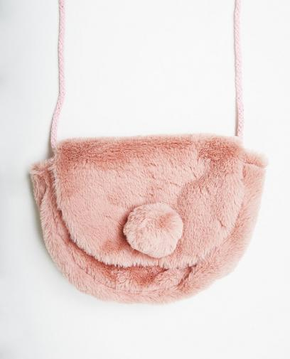 Kunstpelz-Schultertasche